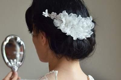 Highlight Brautfrisur: Wie Sie mit floralen Accessoires bezaubern