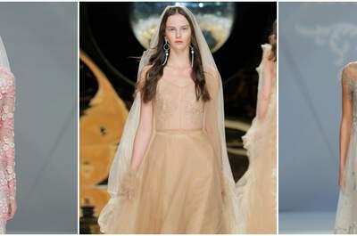 Non-White Wedding Dresses for the Adventurous Bride 2017