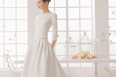 Vestidos de novia minimalistas 2016: sencillos y muy chic
