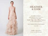 5 invitaciones de boda inspiradas en vestidos de novia Vera Wang