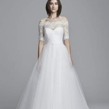 Vestidos de novia con hombros caídos 2017: El escote más elegante de la temporada