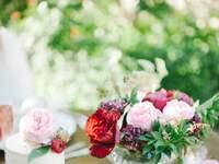 Decoração do casamento com rosas