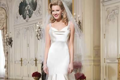 Vestidos de novia para mujeres delgadas 2015: ¡da volumen a tu silueta!