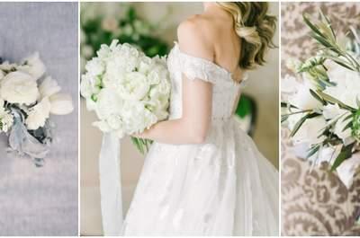 Klassisch weiß: Entdecken Sie 22 elegante Brautsträuße in weiß und lassen Sie sich verzaubern