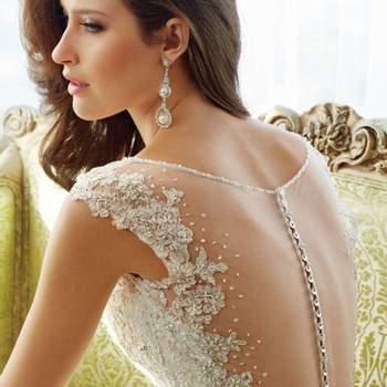 Vestidos de noiva com pedraria 2017: glamour sem fim!