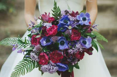 Bouquet da sposa di anemoni 2017: originalità e raffinatezza