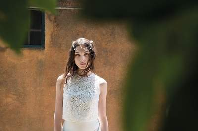 Vestido de novia de dos piezas, una tendencia nueva y original