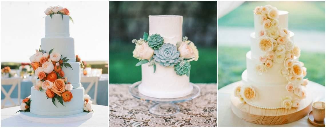 Les plus jolis wedding cakes décorés de fleurs pour 2017