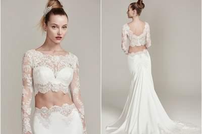 30 vestidos de noiva de duas peças perfeitos para o seu casamento. Aposta pela mudança e triunfará!