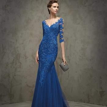 46 vestidos de fiesta azules largos 2017. ¡Encuentra el diseño más elegante!