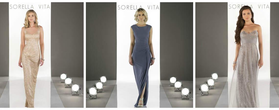 Kennen Sie Modern Metallic? Entdecken Sie die neuen Festkleider von Sorella Vita 2017!