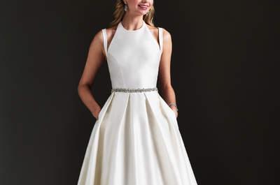 One of our favourite UK Bridal Designers: Caroline Castigliano as seen at NYBW!