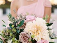 Bouquet da sposa con fiori e foglie 2017