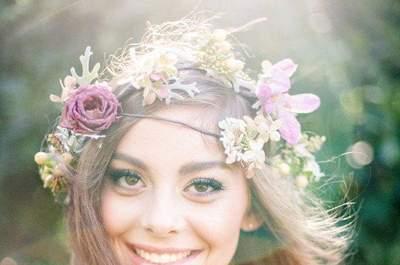 Coroas de flores para noivas 2016: tendência absoluta!