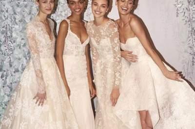 Los 60 vestidos de novia más bonitos de la New York Bridal Week para 2016