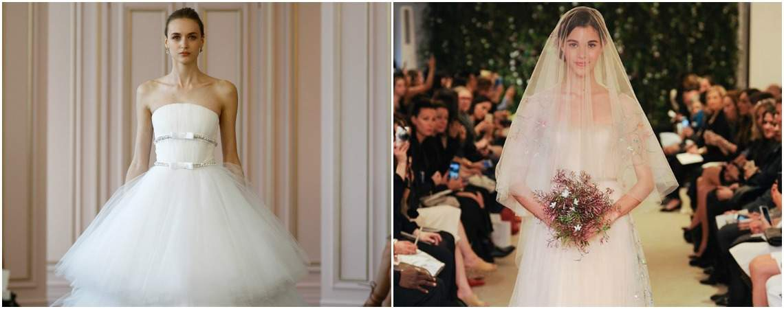 Die neuesten Brautkleider der New York Bridal Fashion Week 2016 direkt vom Laufsteg!