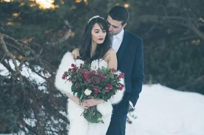 Inspiration Dark Romance : un mariage d'hiver en pleine nature