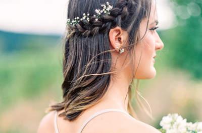 Peinados de novia con trenzas 2017. ¡La tendencia que siempre triunfa!