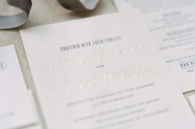 40 convites de casamento BRANCOS para 2017: elegância INTEMPORAL!
