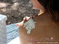 Une mariée toute en harmonie avec les bijoux de Nuage de Perles