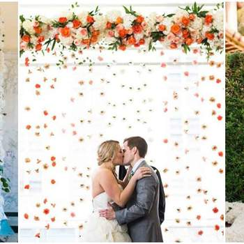 Recrea un jardín vertical para decorar tus fotos de boda. ¡Una idea muy original!