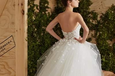 Vestidos de novia Carolina Herrera 2017: romanticismo y elegancia en diseños exquisitos
