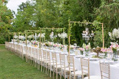 Decoración de boda al aire libre 2017. ¡Querrás que la tuya sea así!