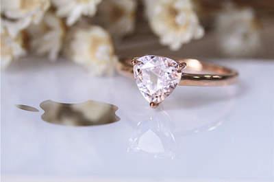 Preciosos anillos de compromiso en color rose gold: Un color que cautivará tus sentidos