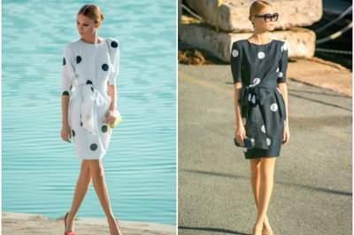 Vestidos de lunares para tu look de invitada, ¡apuesta por una de las últimas tendencias!