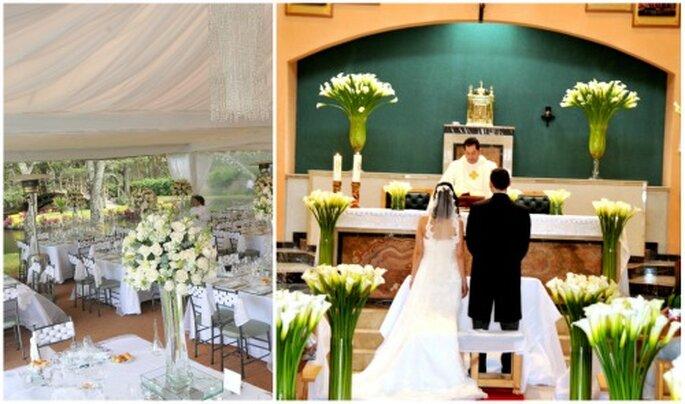 Ambientaciones de boda de Mi boda mágica. Fotos: Elder Bravo