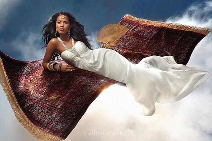 Jasmine, de la película 'Aladdin', vestida de novia por Alfred Angelo