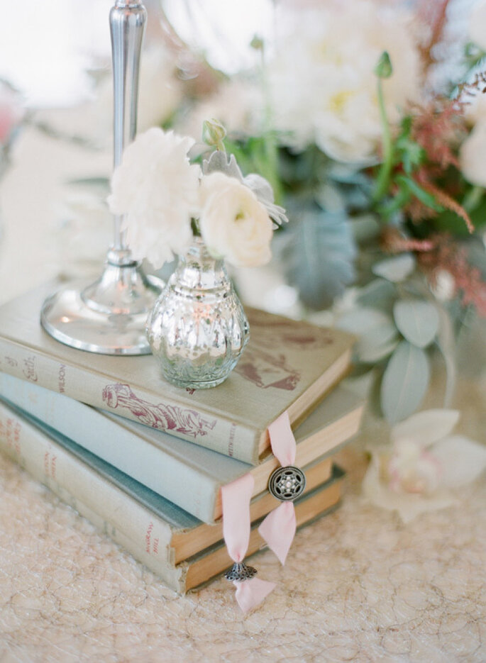 Libros para decorar tu boda - KT Merry Photography