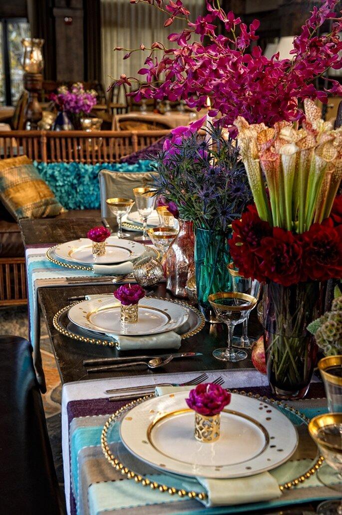 Decoración en tendencia para una boda con estilo bohemio - Foto Matt Theilen Photography