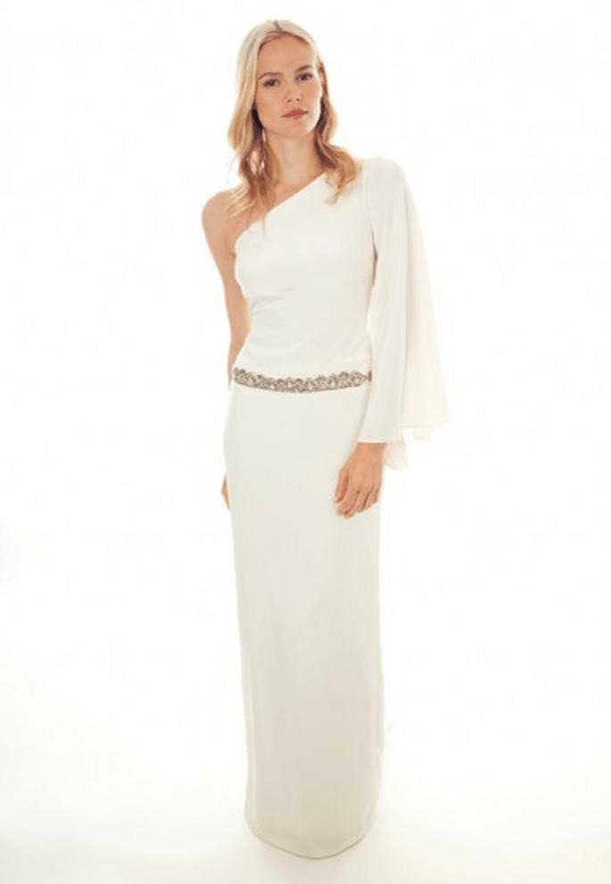 Vestido de novia 2013 con un hombro - Foto Nicole Miller