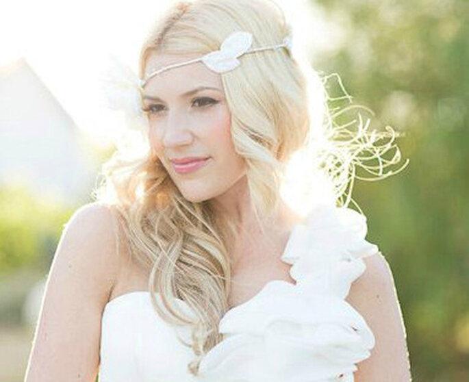 Accessoire pour coiffure de mariée. Photo : Stacey Ramsey Photography