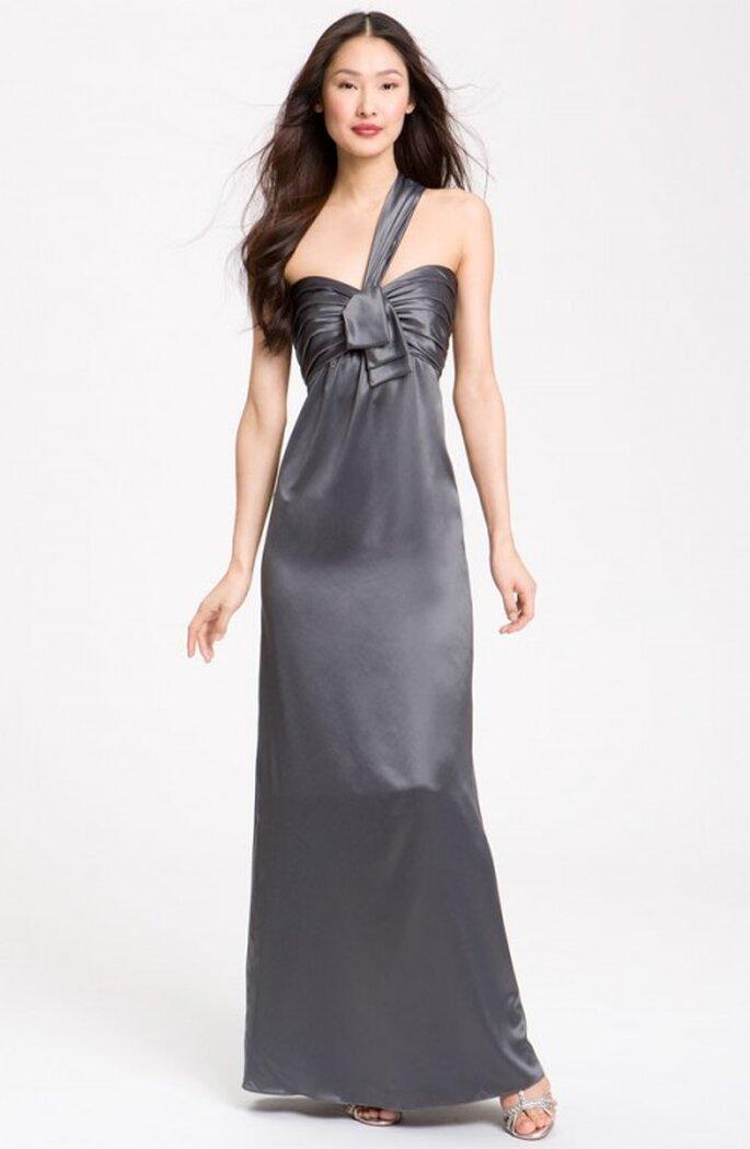 Vestido elegante para dama de boda en color gris - Foto Nordstrom