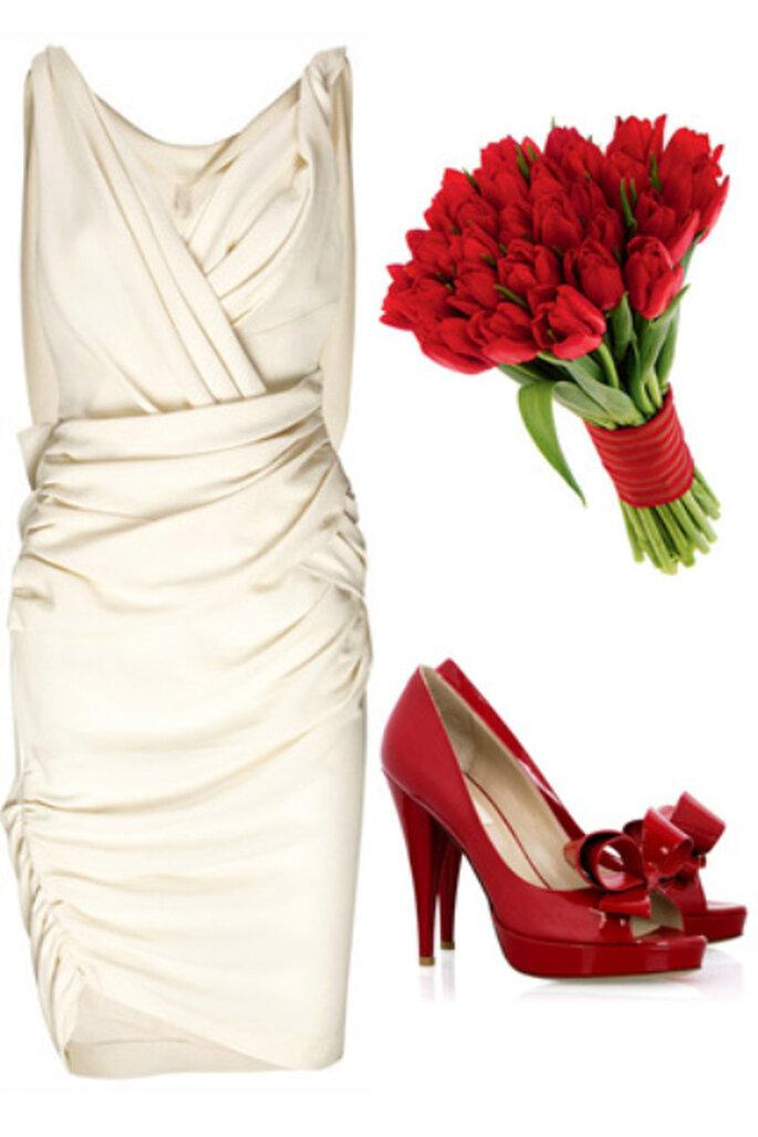 Zapatos rojos con rosas rojas - Modadezapatos