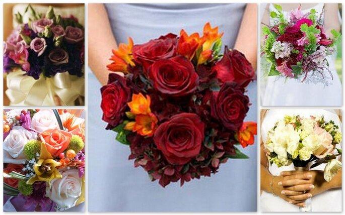 Bouquet con fiori millecolori