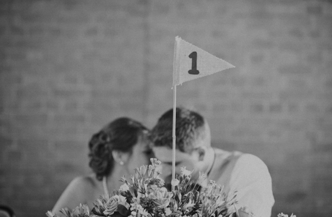 Los novios durante la recepción de su boda - Foto Nadia Meli