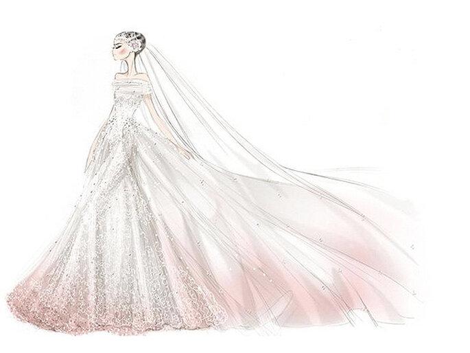 El vestido de novia que Valentino diseñó para Anne Hathaway. Foto: Valentino
