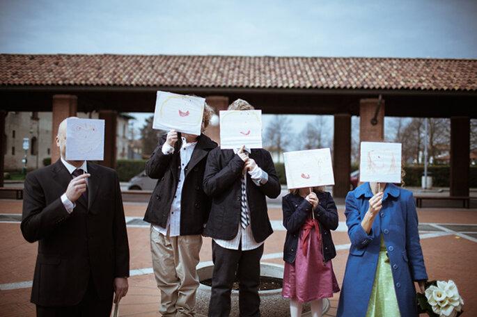 Roberta e Alvaro con i 3 figli. Foto: Ordine della Giarrettiera