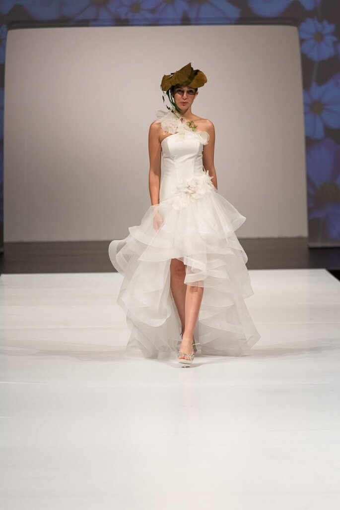 Robe de mariée Sbiroli 2014. Photo ©SiSposaItalia via Press Office Fiera Milano