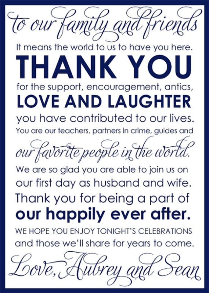 Wedding Gift Thank You Wording Before Wedding : Ways Wedding Couples Give Thanks & Pay it Forward
