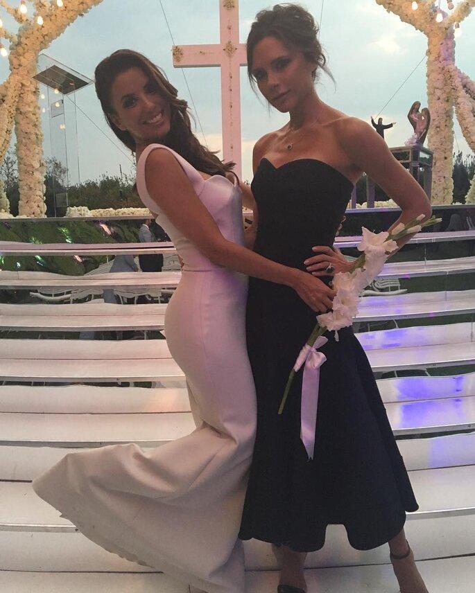 Eva Longoria y Victoria Beckham.