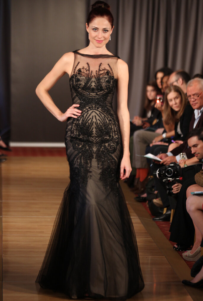 Vestido de novia elegante en color negro - Foto Ines Di Santo 2013