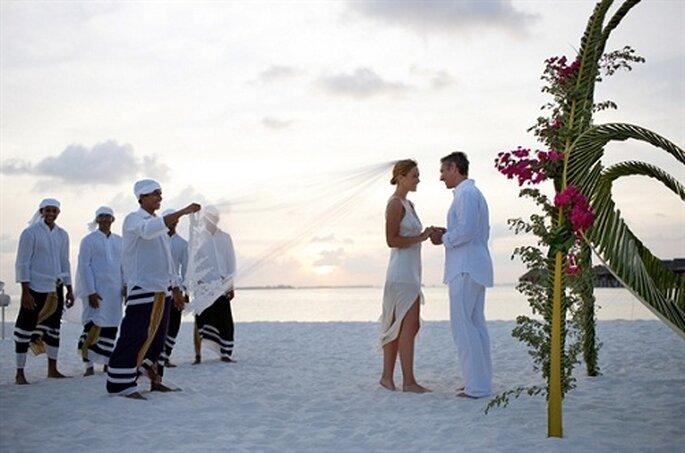 Heiraten am weißen Sandstrand