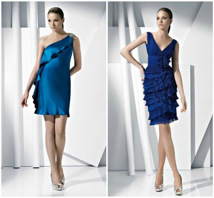 Azul eléctrico, un color perfecto para bodas si lo combinas con plata. Foto: Pronovias
