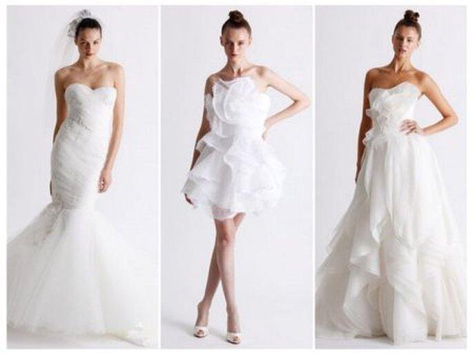 3 modelos para novias con formas suaves - Foto: Marchesa