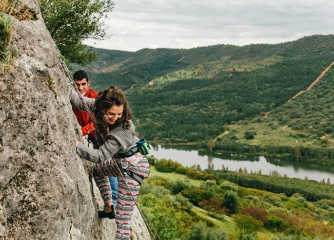 Una película de acción, escalando montañas. Foto: Nano Gallego
