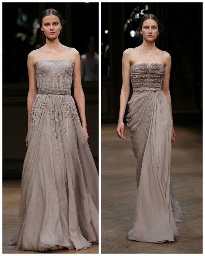 Vestido de novia color beige colección 2012 de Georges Hobeika